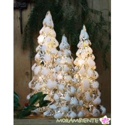 Beleuchtete Glastannenbäume