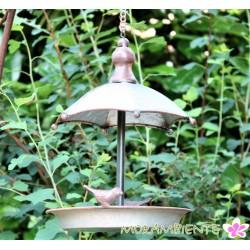 Vogel- Futterhaus zum Hängen mit Schirmdach