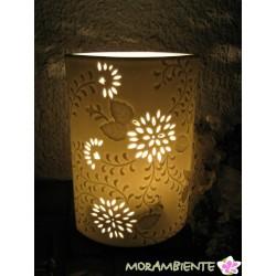 Weiße Tischlampe  aus Porzellan