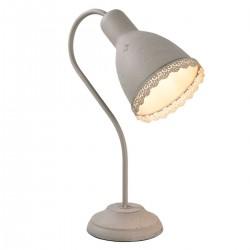 graue Tischlampe aus Metall...