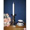 Silberfarbiger Kerzenleuchter für Leuchter- oder Stumpenkerzen