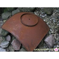 Metallsäule mit Edelrostoberfläche und Pflanz-oder Feuerschale