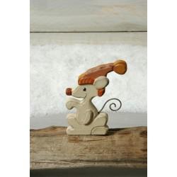 Maus mit Mütze für Kerzenwelle